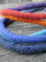 Πολύχρωμα κοδόνια από felt | Necklace in various colours and details with beads