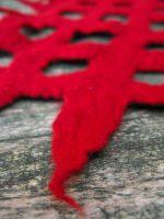 Κόκκινο κασκόλ από felt