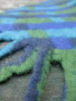Μπλε-πράσινο κασκόλ από felt
