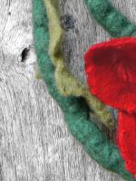 Κόκκινες παπαρούνες από φυσικό felt