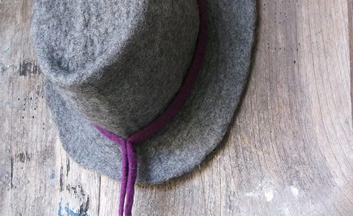 Χειροποίητο γκρι καπέλο από φελτ | Handmade grey felt hat